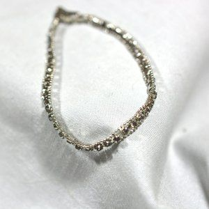 EUC Silver Toned Diamond Tennis Bracelet